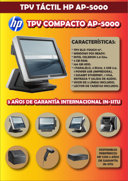 TPV TÁCTIL HP AP5000