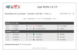 Resultados Liga Norte Jornada 9