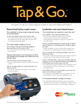 MasterCard PayPass reader issues: Cardholder and card