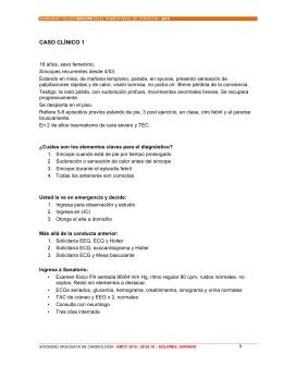 CASO CLÍNICO 1 - Sociedad Uruguaya de Cardiología