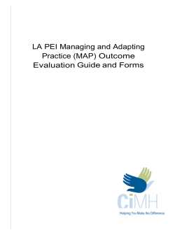 LA PEI MAP Evaluation Guide and Forms
