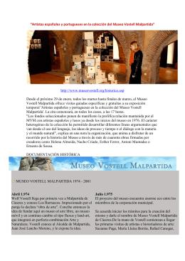 """""""Artistas españoles y portugueses en la colección del Museo Vostell"""