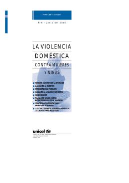 La violencia doméstica contra mujeres y niñas - UNICEF