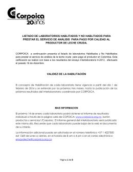 LISTADO DE LABORATORIOS HABLITADOS Y NO