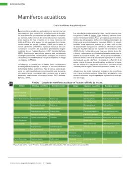 Mamíferos acuáticos. Formato PDF