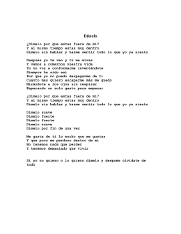 Enrique Iglesias - Dimelo Lyrics