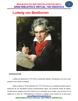 Ludwig van Beethoven - Gran Fratervidad Tao Gnóstica Espiritual