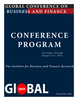 GLOBAL CONFERENCE ON BUSINESS AND FINANCE