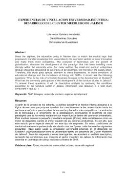 desarrollo del cluster mueblero de jalisco