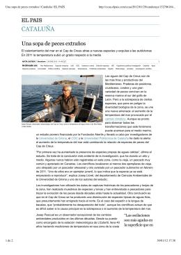 Una sopa de peces extraños | Cataluña | EL PAÍS