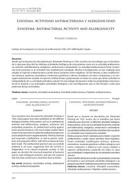 Lisozima: Actividad antibacteriana y alergenicidad