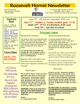 Roosevelt Hornet Newsletter - San Leandro Unified School District