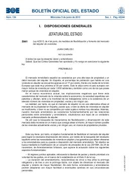 Ley 4/2013 - La Moncloa