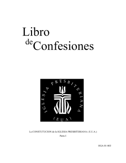 Book of Confession en Espanol