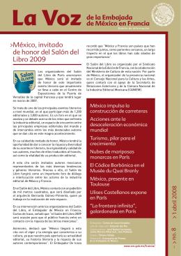 México, invitado de honor del Salón del Libro 2009