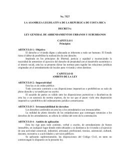 Ley General De Arrendamientos Urbanos Y