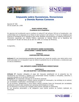 Impuesto sobre Sucesiones, Donaciones y Demás Ramos Conexos