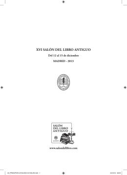 XVI SALÓN DEL LIBRO ANTIGUO - Gremio Madrileño de Libreros