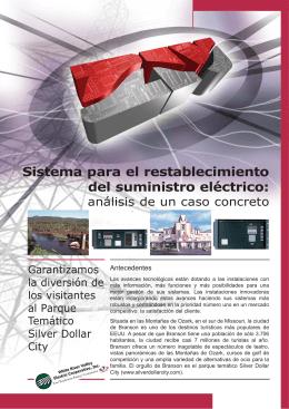 Sistema para el restablecimiento del sumnistro eléctrico:análisis de