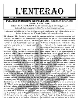 Lenterao Nº 50 - SinDominio.Net