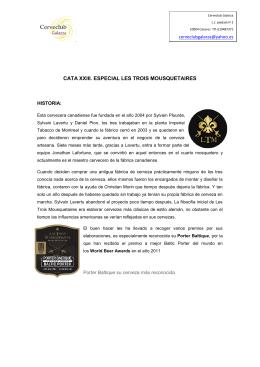 CATA XXIII. ESPECIAL LES TROIS MOUSQUETAIRES
