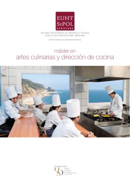 artes culinarias y dirección de cocina - Hotel