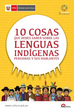 10 cosas que debes saber de las lenguas indígenas peruanas y sus