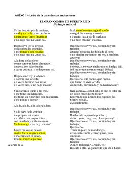 ANEXO 1 – Letra de la canción con anotaciones EL