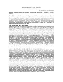 ESTREÑIMIENTO EN EL ADULTO MAYOR Dr. Amir Gómez