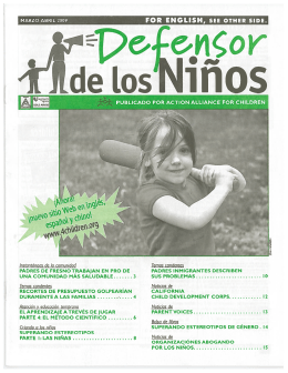 Marzo | Abril - Action Alliance for Children