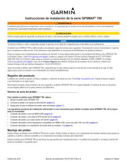 Instrucciones de instalación de la serie GPSMAP® 700