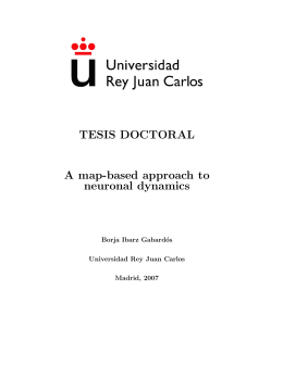TESIS DOCTORAL A map-based approach to neuronal dynamics