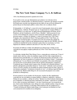 The New York Times Company Vs. L. B. Sullivan