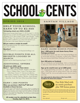 HELP YOUR SCHOOL EARN UP TO $2,500