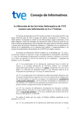 La Dirección de los Servicios Informativos de TVE