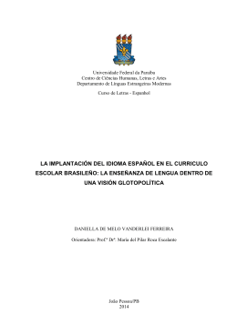 la implantación del idioma español en el curriculo escolar