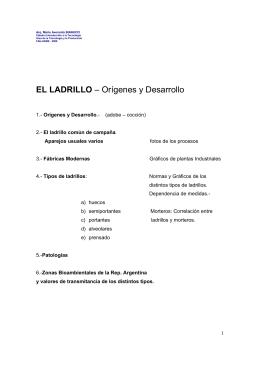 EL LADRILLO – Orígenes y Desarrollo