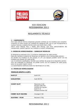 REGLAMENTO TECNICO RESISBARNA 2011