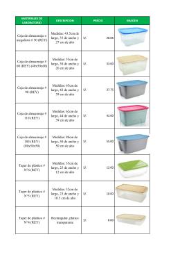 Para ver lista de materiales y precios descargar aqui
