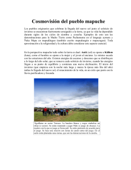 Cosmovisión del pueblo mapuche