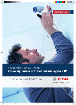 Lista de precios Abril 2014 Advantage Line by Bosch Video