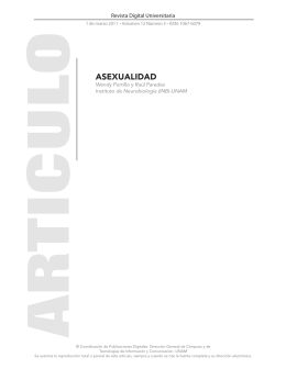 ASEXUALIDAD - Revista Digital Universitaria