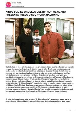 kinto sol, el orgullo del hip hop mexicano presenta