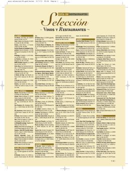 guia seleccion - Vinos y Restaurantes