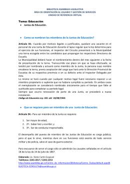 Juntas de Educación - Asamblea Legislativa de la República de