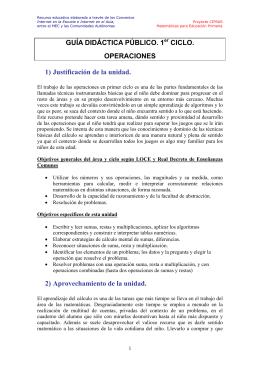 GUÍA DIDÁCTICA PÚBLICO. 1er CICLO. OPERACIONES 1