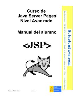 Manual del curso de JSP avanzado