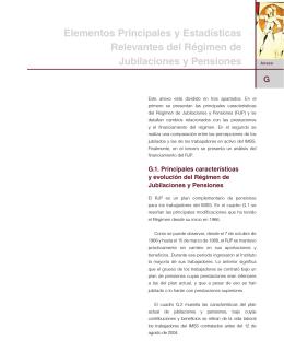 Elementos Principales y Estadísticas Relevantes del Régimen de
