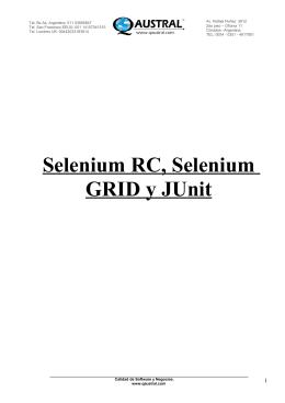 Selenium RC, Selenium GRID y JUnit