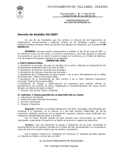 30 de Julio - Ayuntamiento de Villamiel de Toledo